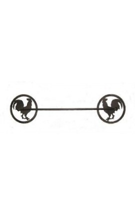 Cloth or towel holder wrought iron rooster decor