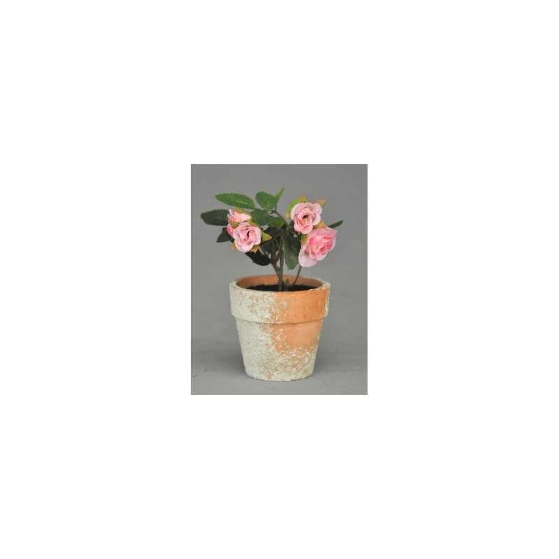 Jardini re d corative en fer forg avec petits rosiers for Jardiniere decorative