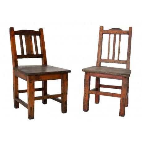 Chaise d 39 enfant en bois for Chaise medaillon enfant