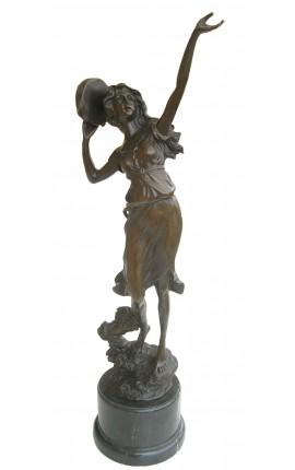 "Grande sculpture en bronze ""Danseuse au tambourin"""