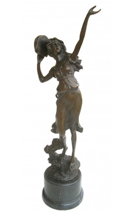 "Large bronze sculpture ""Dancer with Tambourine"""