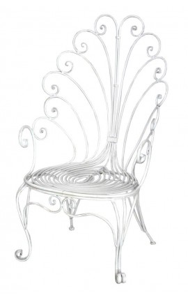 "Grand fauteuil style trone en fer forgé. Collection ""Paon"""