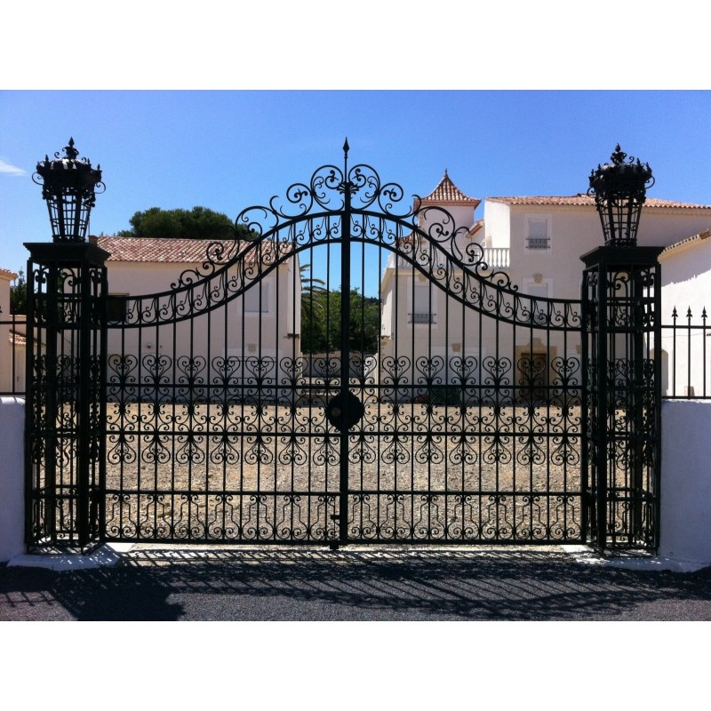 Gate For Castle Baroque Wrought Iron Gates With Two Doors