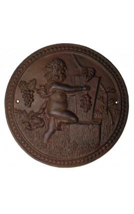 "Wall decorative plate cast iron ""the harvest of the cherub"""