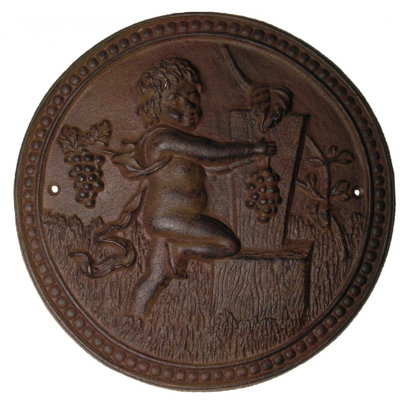 Wall Decorative Plate Cast Iron Quot The Harvest Of The Cherub Quot