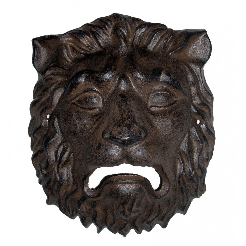 Plaque D Corative Murale En Fonte De Fer Masque T Te De Lion