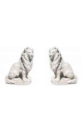 Sculpture of a pair of lions stone big size