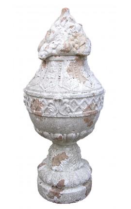 Grand vase en terre cuite avec couvercle