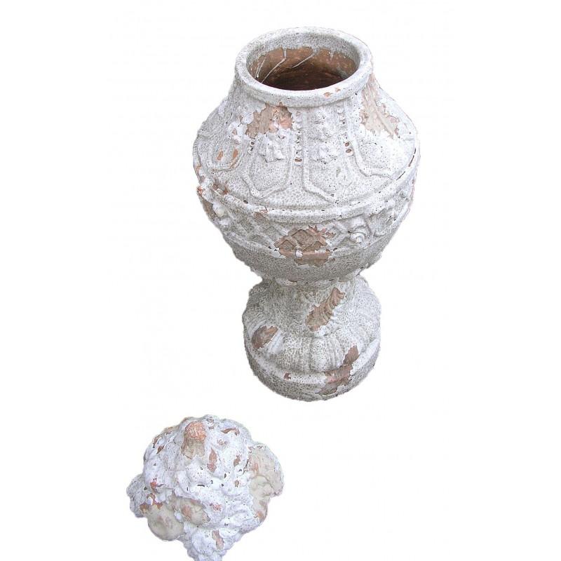 grand vase en terre cuite avec couvercle. Black Bedroom Furniture Sets. Home Design Ideas