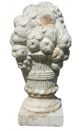 Большие декоративные букет и его корзина земляной Терракота