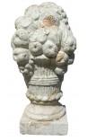 Grand bouquet décoratif et son panier en terre cuite