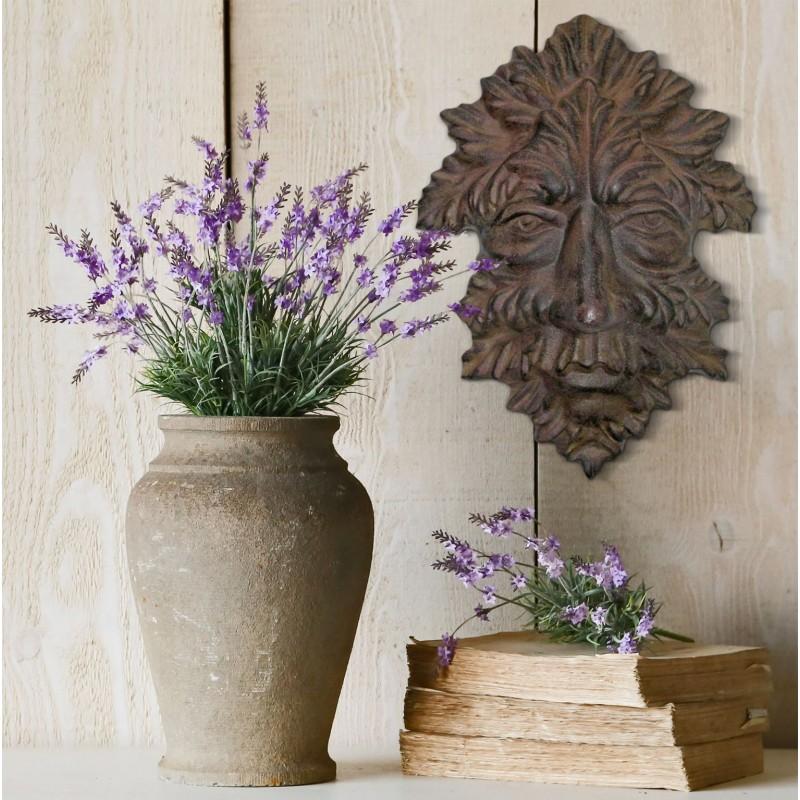 plaque d corative murale en fonte de fer masque d 39 automne. Black Bedroom Furniture Sets. Home Design Ideas