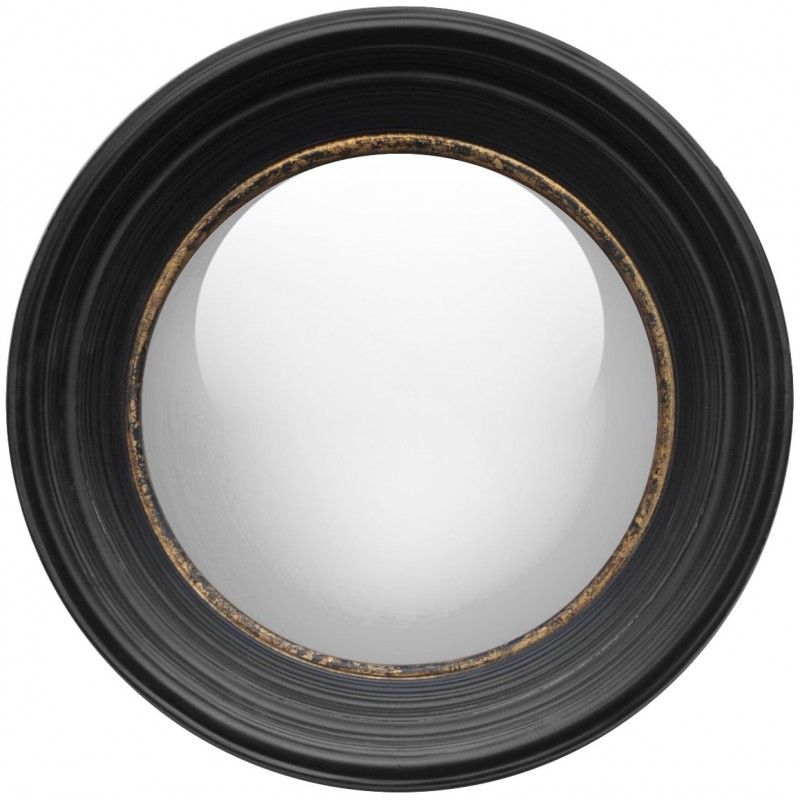 Miroir rond sorci re grand mod le for Grand miroir noir