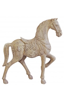 Grand cheval de manège sculpté