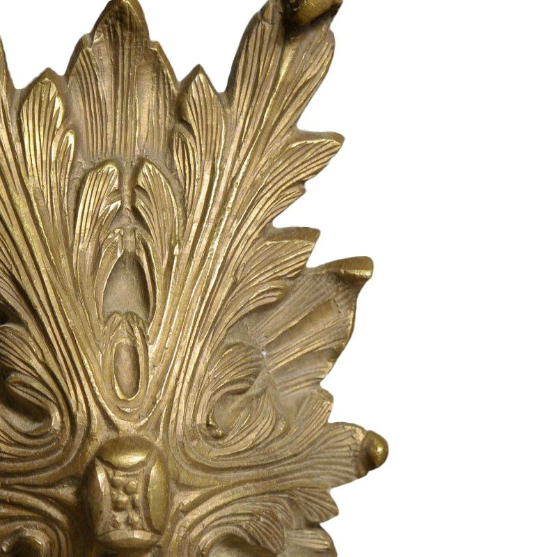 paire de d coration en bronze de grande feuille d 39 acanthe. Black Bedroom Furniture Sets. Home Design Ideas