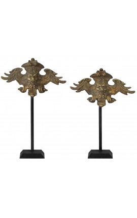 Neptune pair of bronze decorations