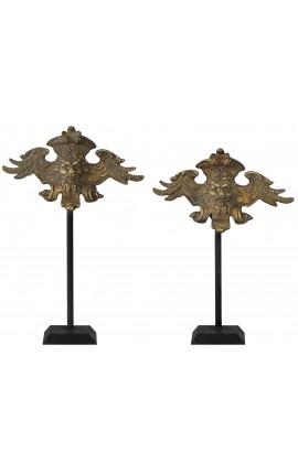 Paire de décoration en bronze dieu Neptune