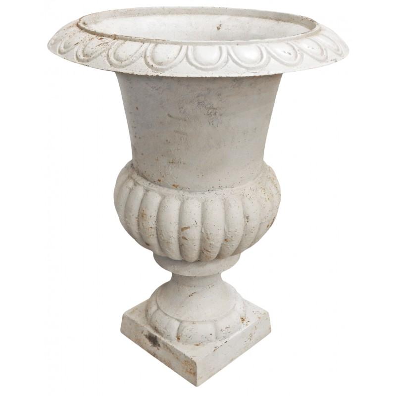 Large vase medicis white cast iron - Vase medicis en fonte ...