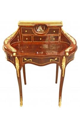 """Bureau """"bonheur du jour"""" en bois marqueté de style Napoléon III"""
