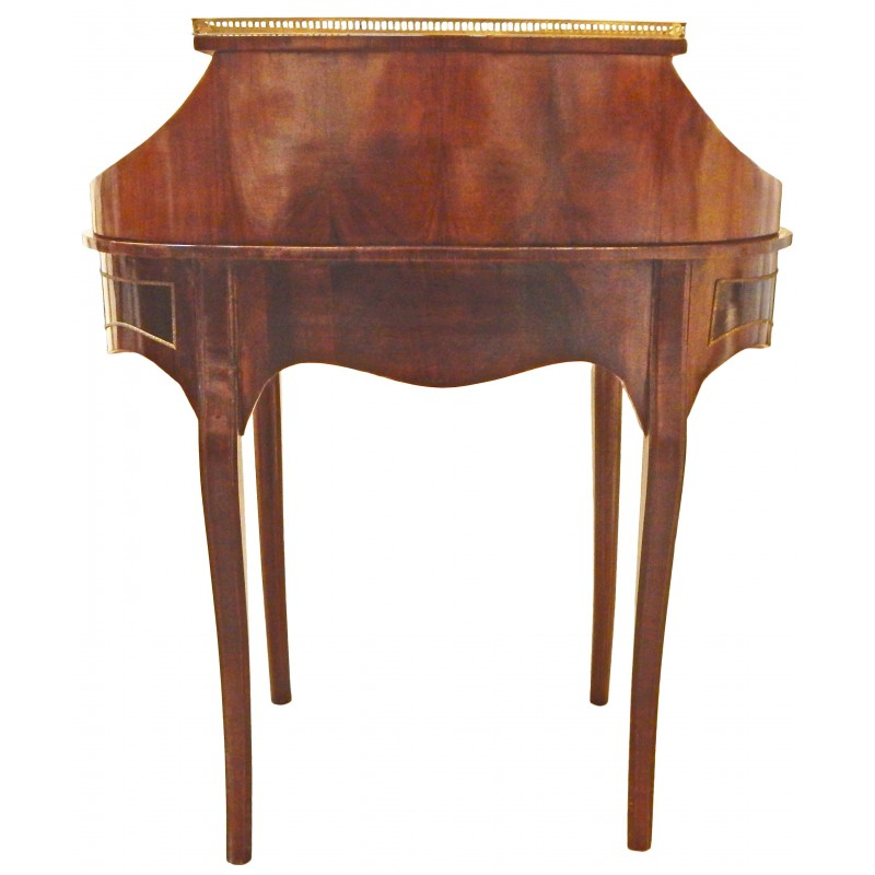 Bureau bonheur du jour en bois marquet de style for Bureau bonheur du jour ancien