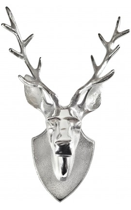"Large aluminum wall decoration trophy ""head deer with antlers"""
