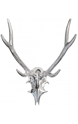 "Trophy Wall Decoration aluminum ""deer horns"""