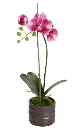 Orchidée Phalaenopsis mauve en tissu
