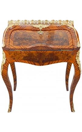 Scriban стол Louis XV стиле маркетри с бронзой и золотом