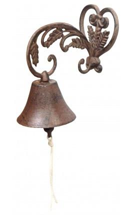 Bell garden gate heart