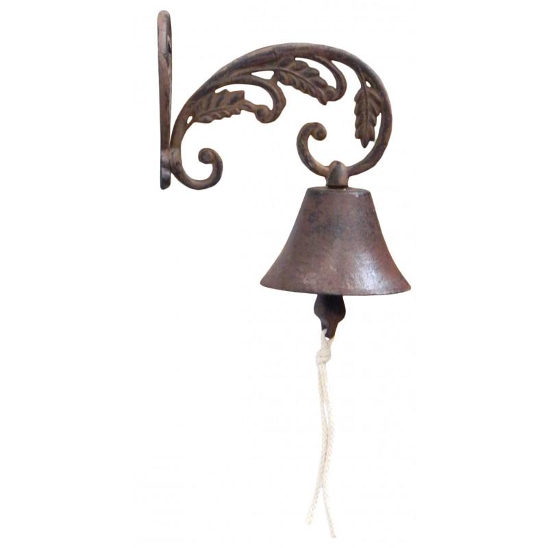Cloche de jardin porte c ur et volutes en fonte de fer for Porte de jardin en fer