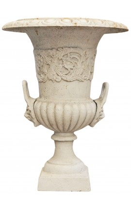 Medici Vase beige cast iron with handles