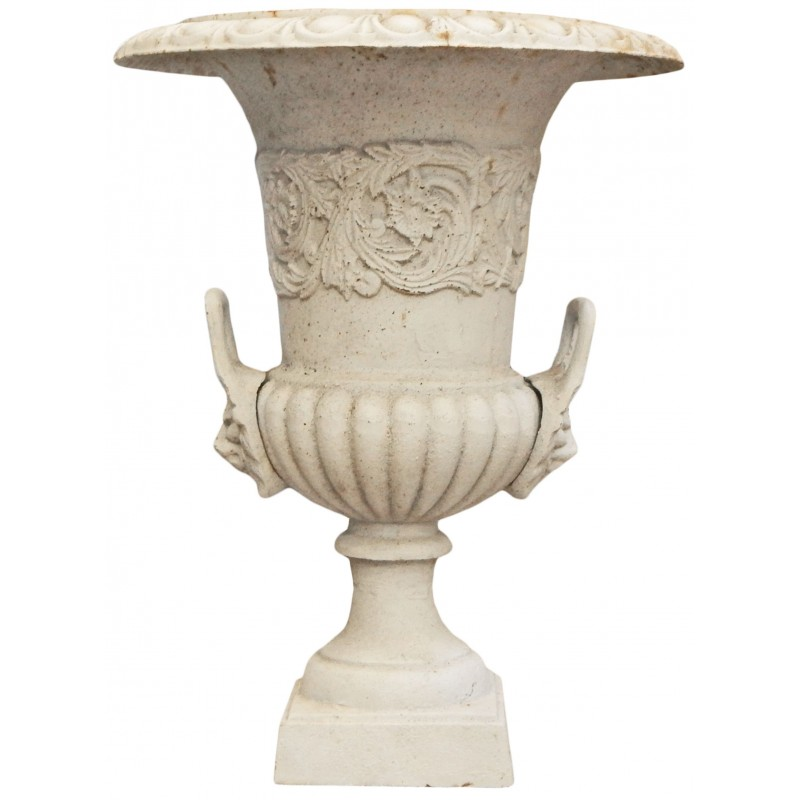 medicis beige vase cast iron old patina with handles. Black Bedroom Furniture Sets. Home Design Ideas