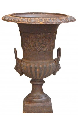 Medicis vase with handles rusty patina effect