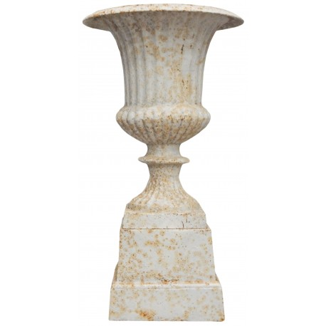 medicis beige vase patinated cast iron pedestal. Black Bedroom Furniture Sets. Home Design Ideas