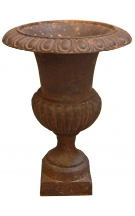 Medici vase cast iron rust colored patina