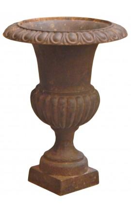 Vase Médicis en fonte brut patine à l'ancienne