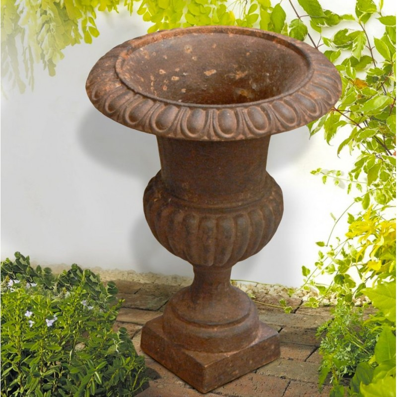 Medici Vase Cast Iron Rust Colored Patina To The Old Way