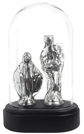 Virgin presented in glass globe