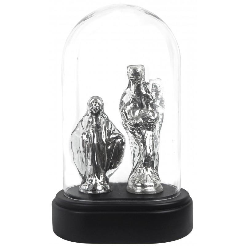vierges en verre argent au mercuresous globe en verre. Black Bedroom Furniture Sets. Home Design Ideas