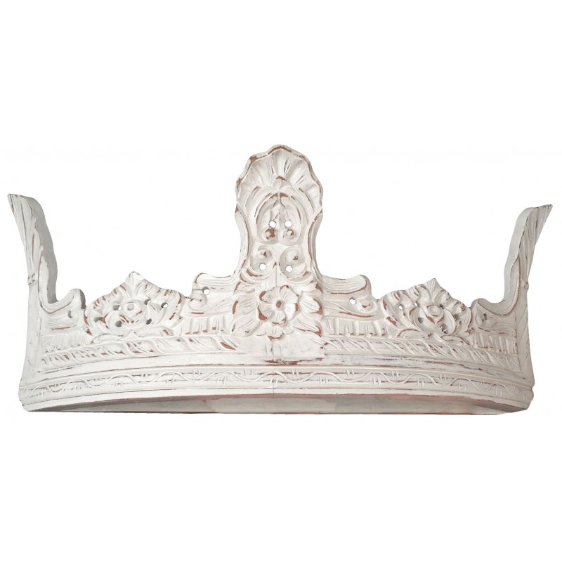 Ciel De Lit En Bois Sculpte : Crown-Shaped Canopy Bed