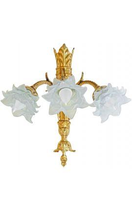 Уолл-бронза Napoléon III стиль с 3 ламп