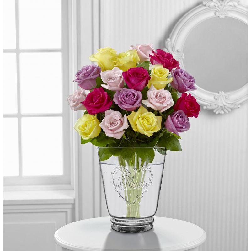 Vase Blown Glass With Heart Shaped Decoration Quot Fleurs Quot