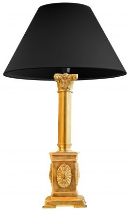 Table lamp French Empire style gilt bronze