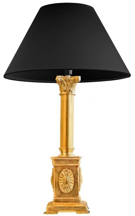 Lampe sur pied de style empire en bronze dor for Lampe de bureau sur pied