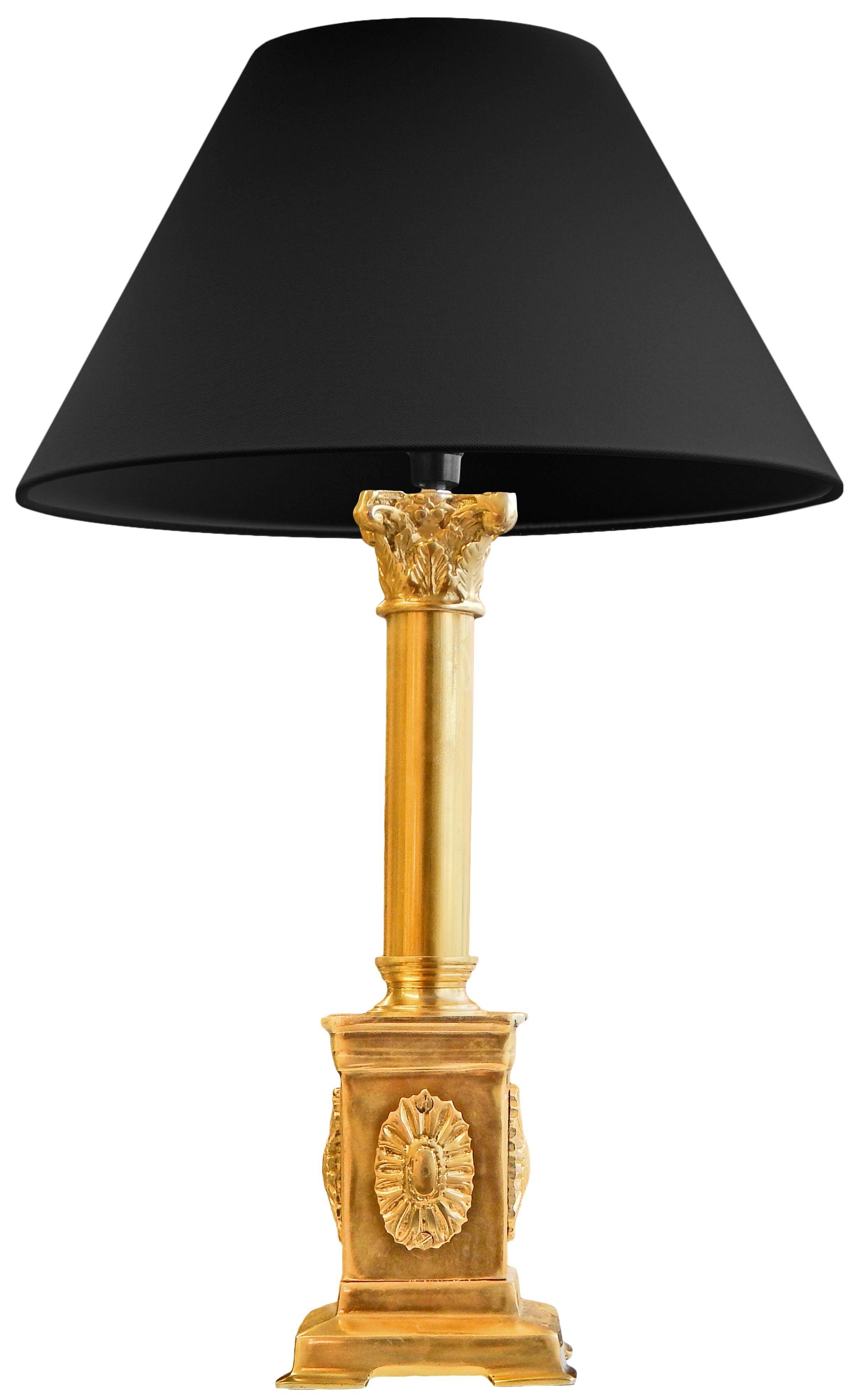 Doré En Lampe Pied Style De Empire Sur Bronze bYyf6gv7