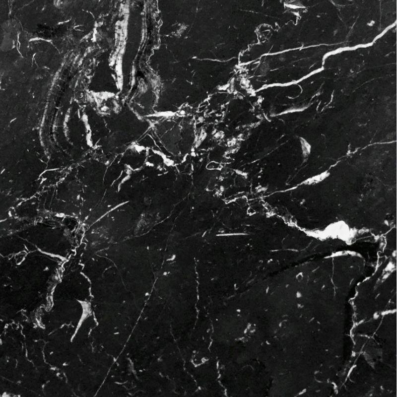 Console de style baroque en bois laqu blanc et marbre noir - Marbre noir et blanc ...