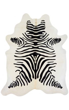 Cowhide carpet zebra printed