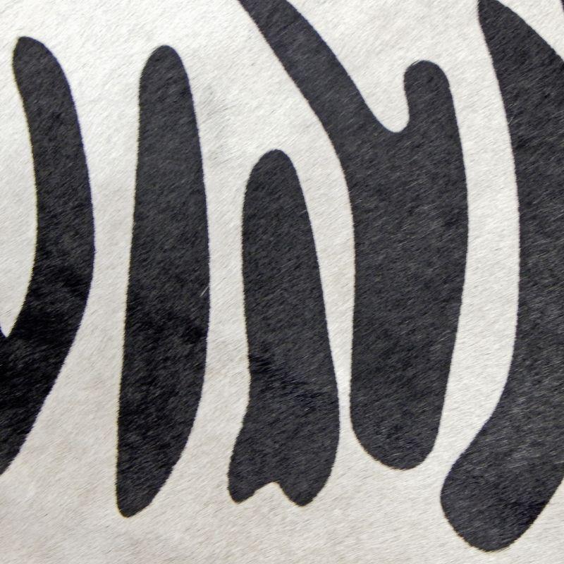 Tapis En Vrai Peau De Vache Imprime Zebre