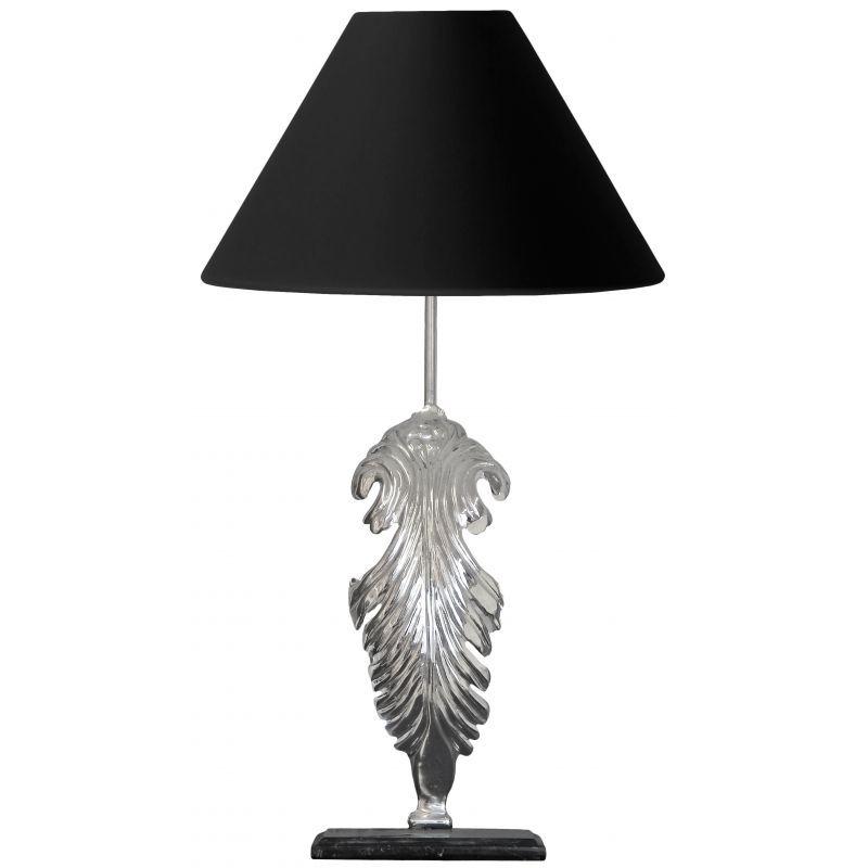 Lampe poser en bronze argent avec base en marbre noir for Lampe sur pied enfant