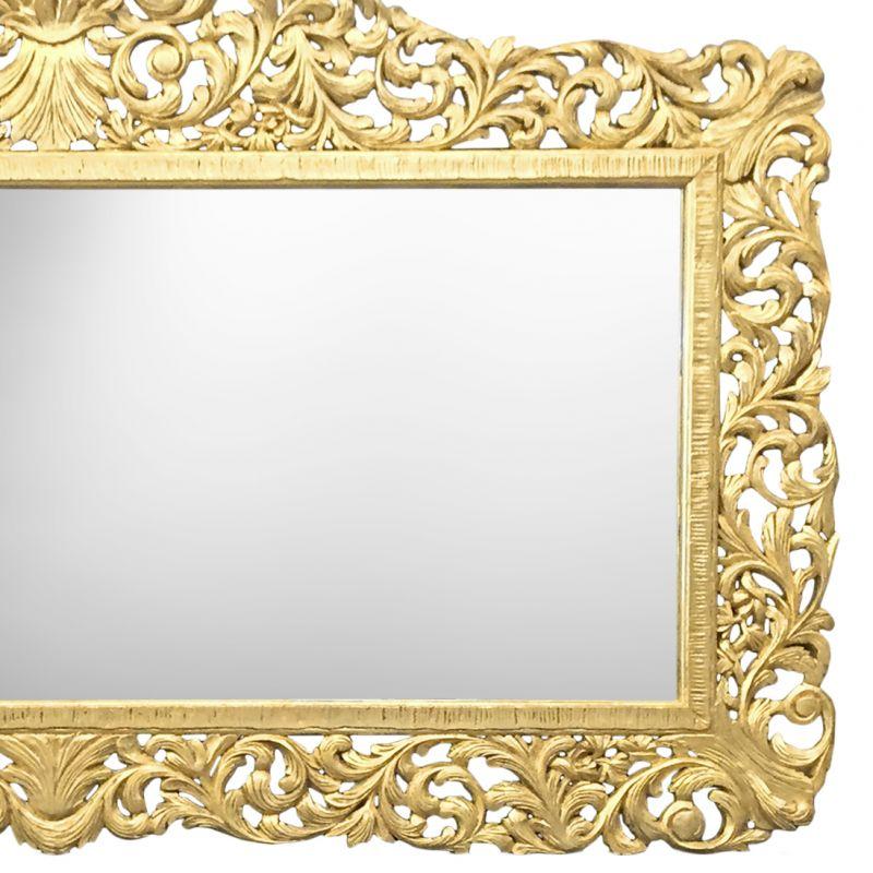 Enorme console avec miroir de style baroque en bois dor - Miroir baroque noir pas cher ...